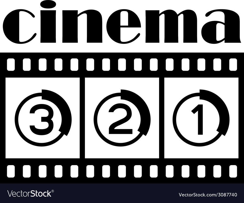 Cinema symbol vector | Price: 1 Credit (USD $1)