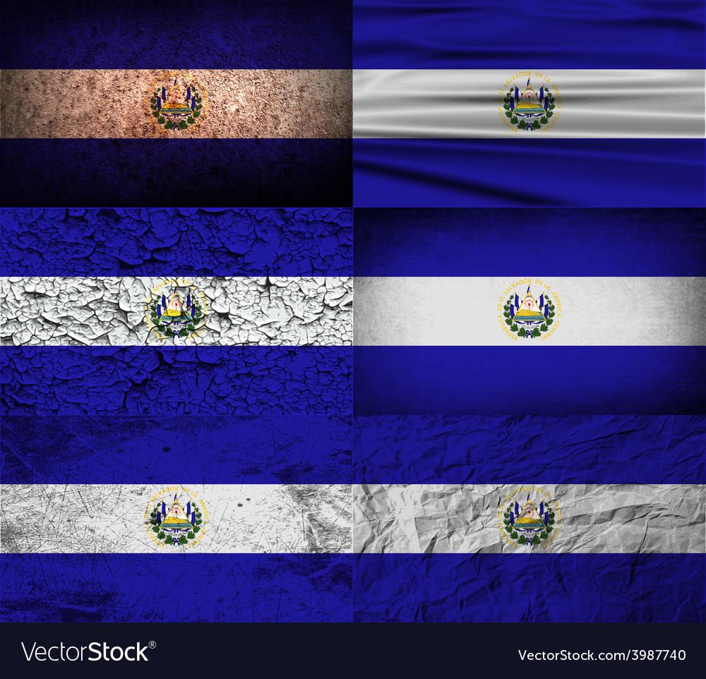 Flag of el salvador with old texture vector | Price: 1 Credit (USD $1)