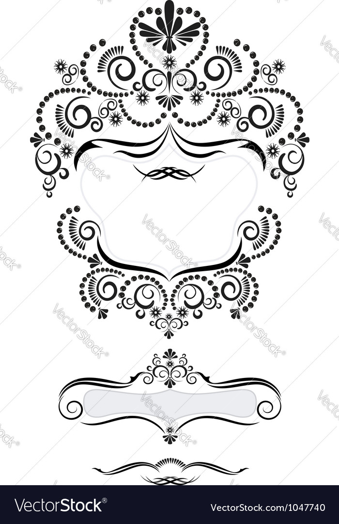 Frame in oriental style vector | Price: 1 Credit (USD $1)