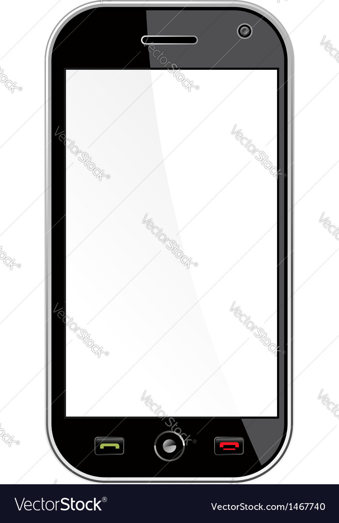 Generic smart phone isolated over white vector | Price: 1 Credit (USD $1)