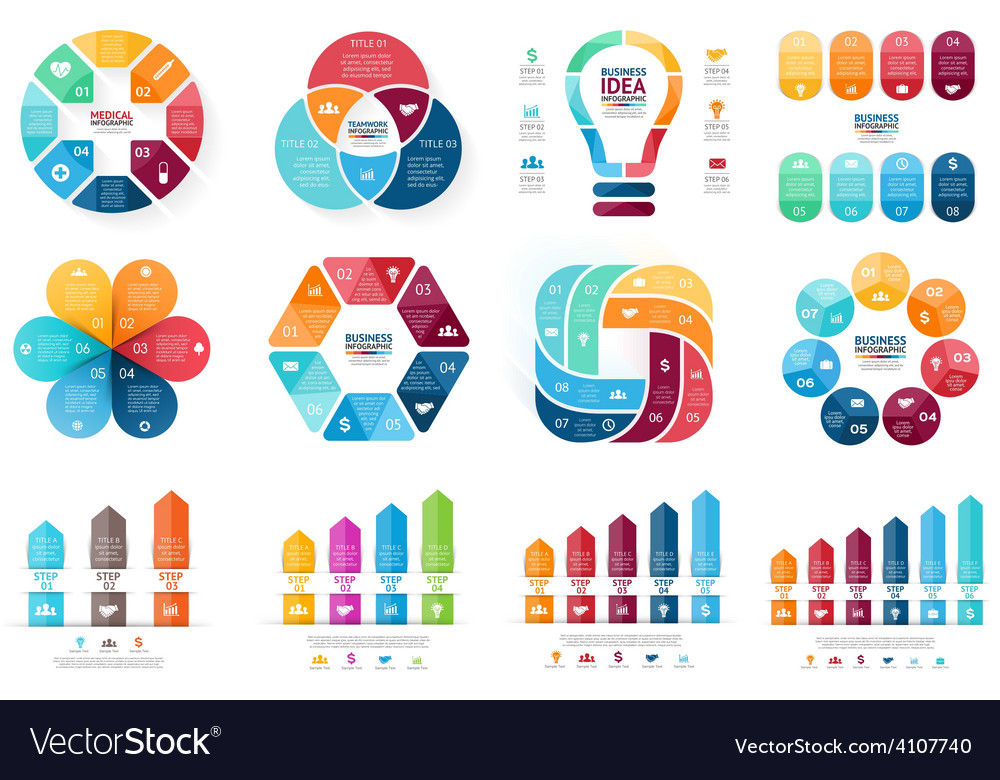 Infographic set template for cycle diagram vector | Price: 1 Credit (USD $1)