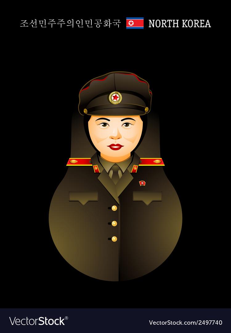Matryoshka north korea vector | Price: 1 Credit (USD $1)