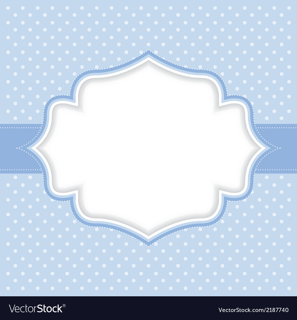 Polka dot frame vector | Price: 1 Credit (USD $1)