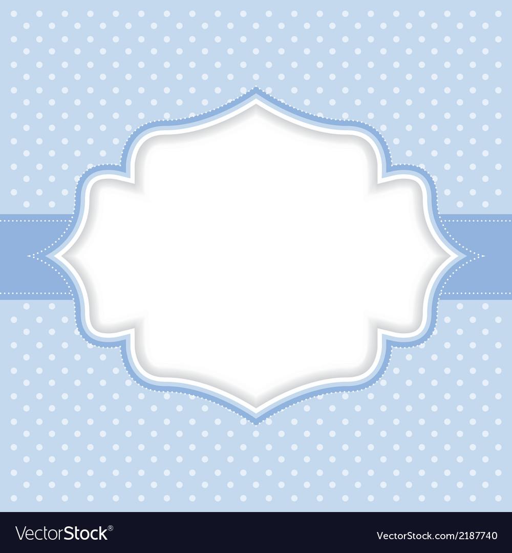 Polka dot frame vector | Price: 1 Credit (USD $1)