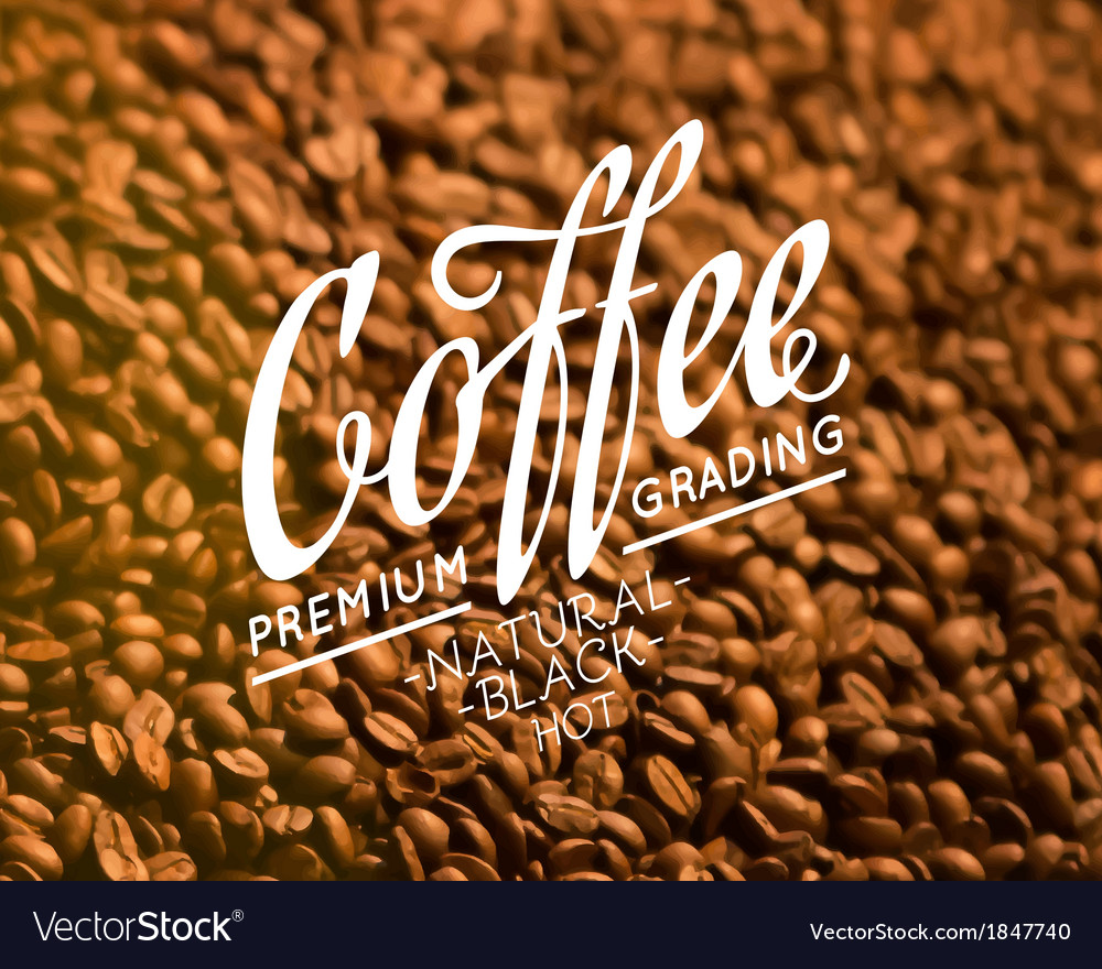 Roasted coffee beans vector | Price: 1 Credit (USD $1)