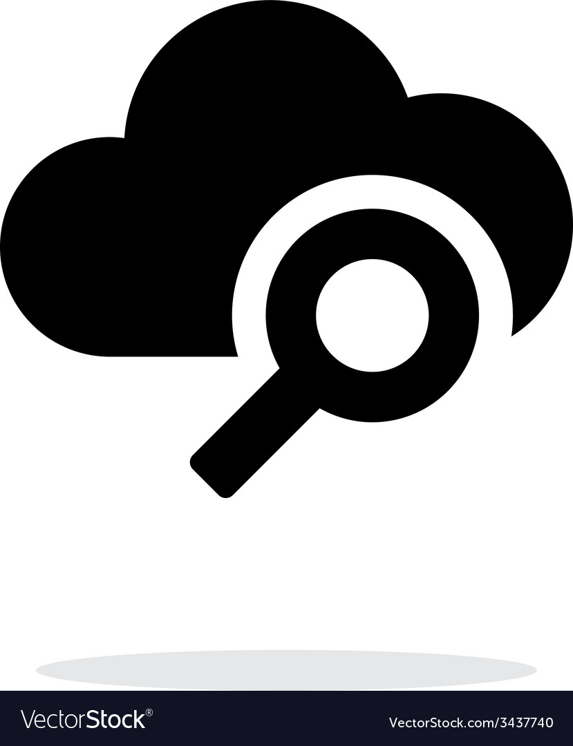 Search cloud computing simple icon on white vector | Price: 1 Credit (USD $1)