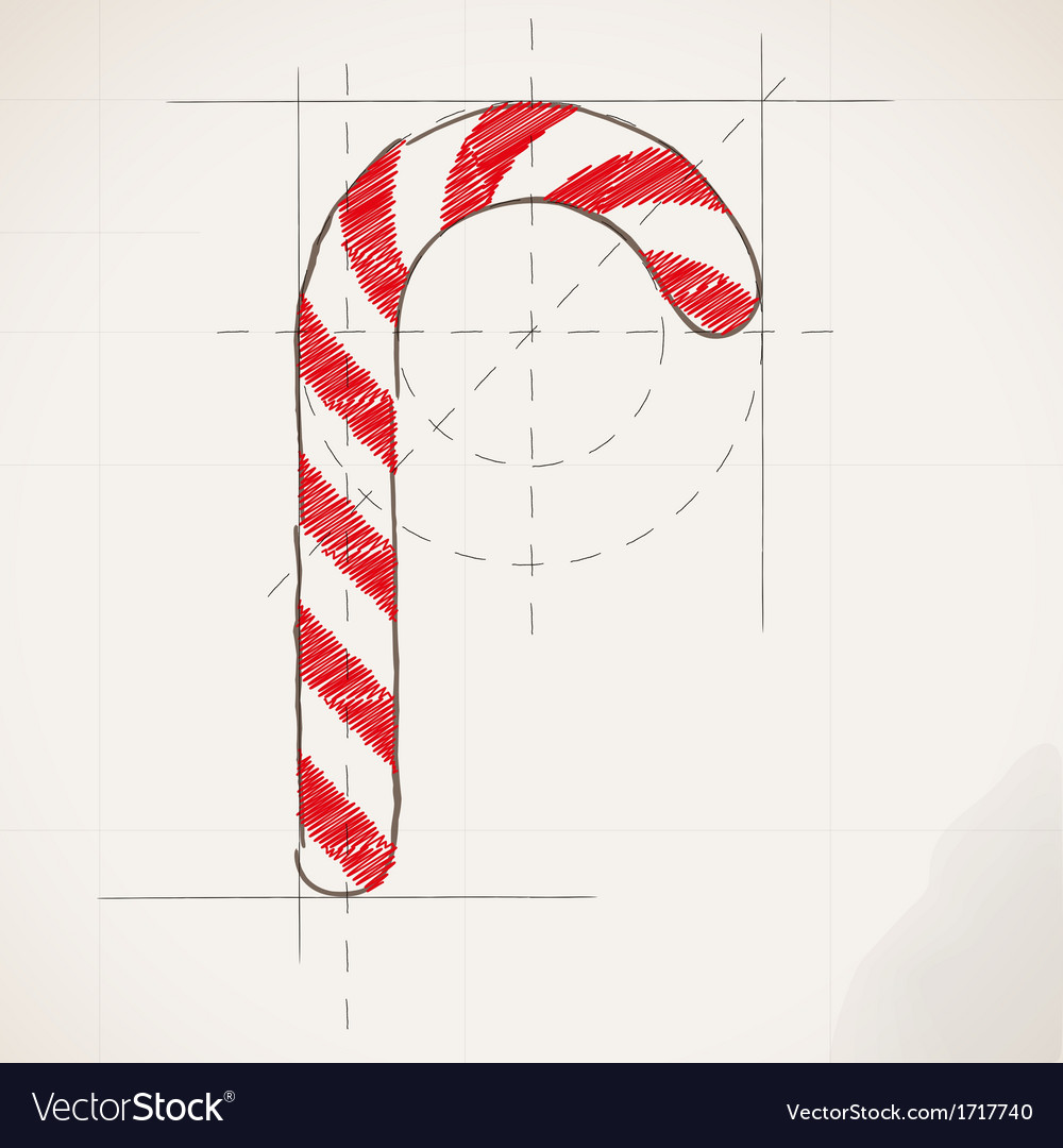 Sketch drawing of christmas background vector | Price: 1 Credit (USD $1)
