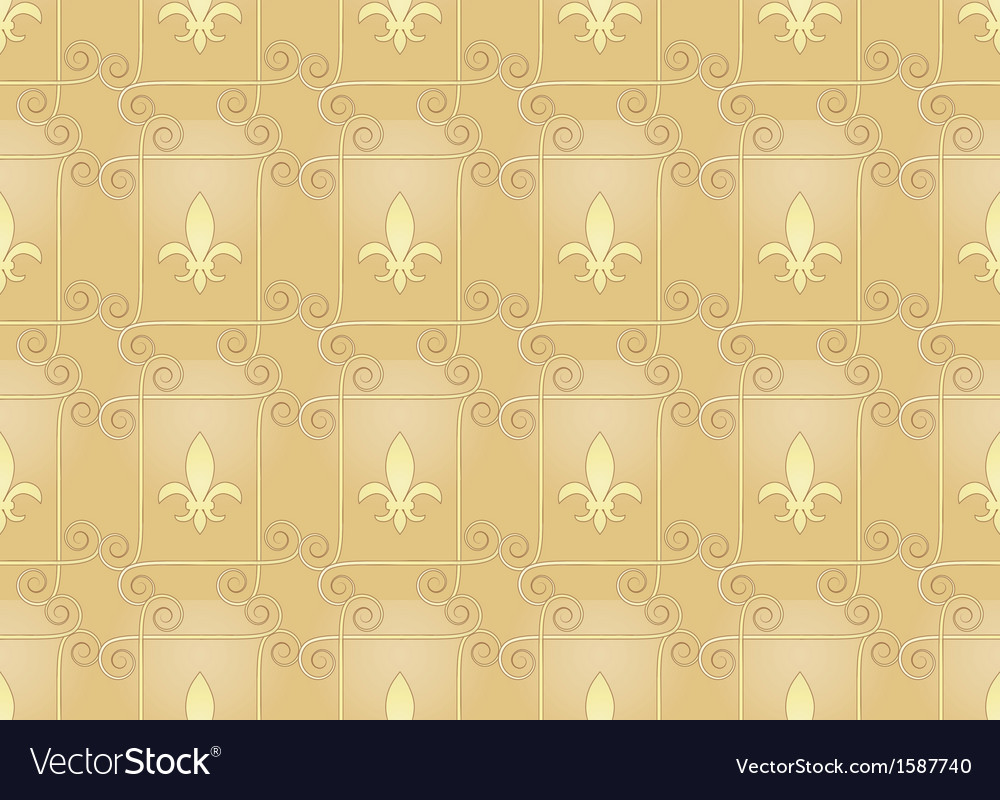 Vintage pattern with royal lilies vector | Price: 1 Credit (USD $1)