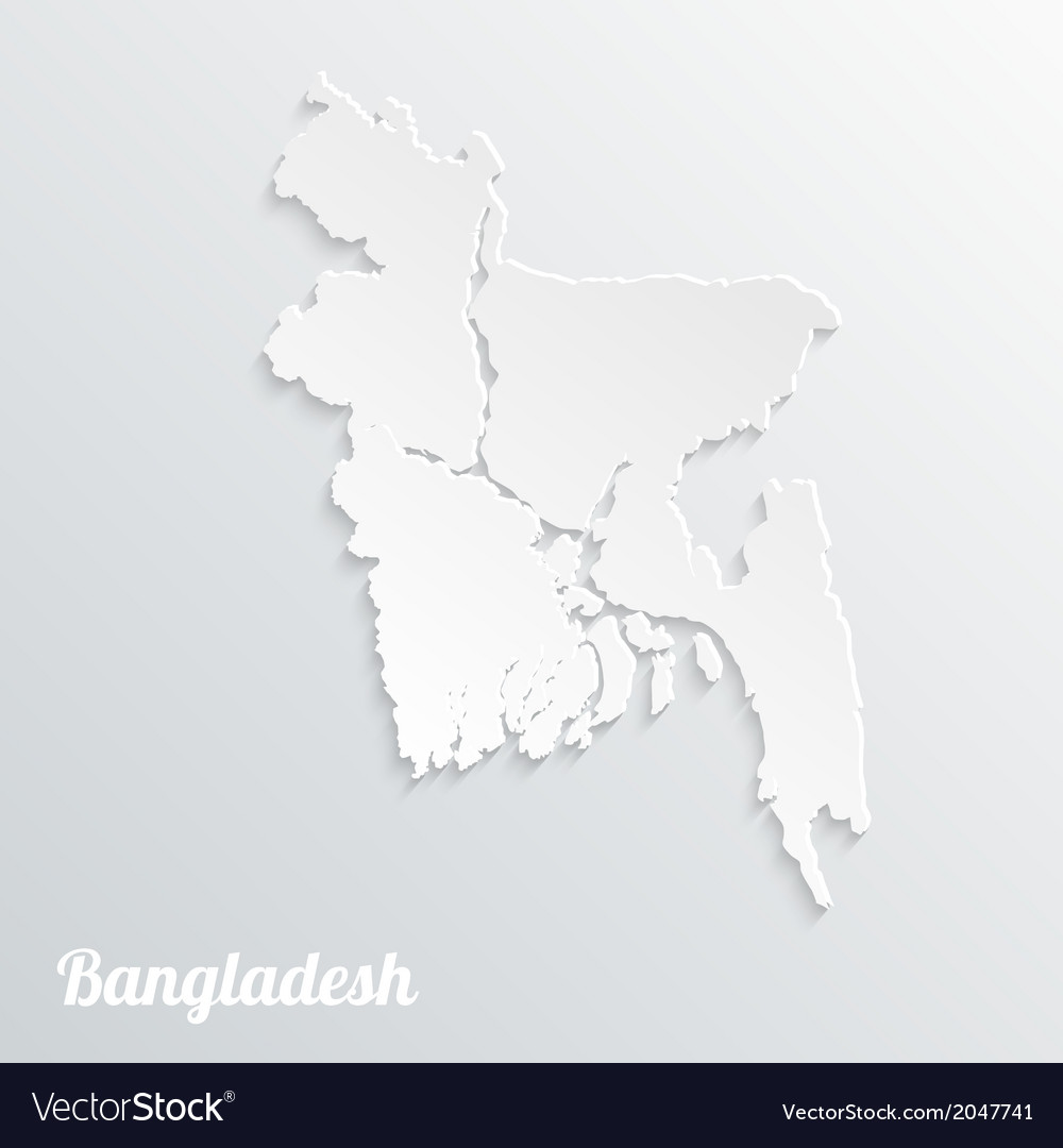 Abstract icon map of bangladesh vector | Price: 1 Credit (USD $1)