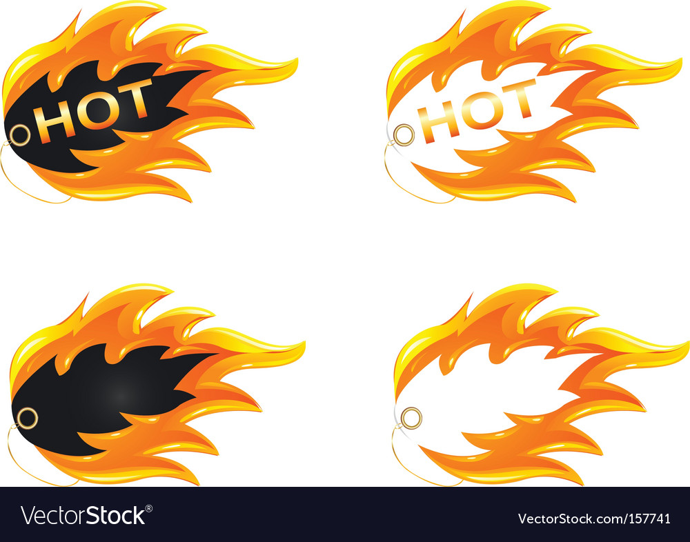 Burning label vector