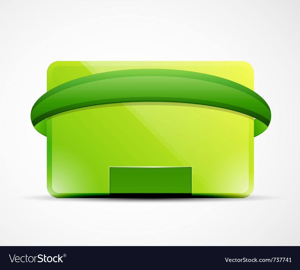Clean web box vector | Price: 1 Credit (USD $1)