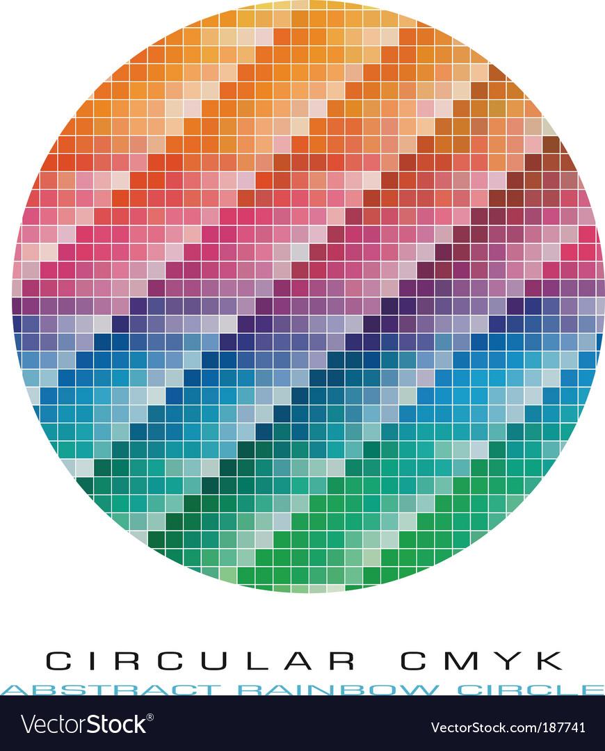 Cmyk color palette vector