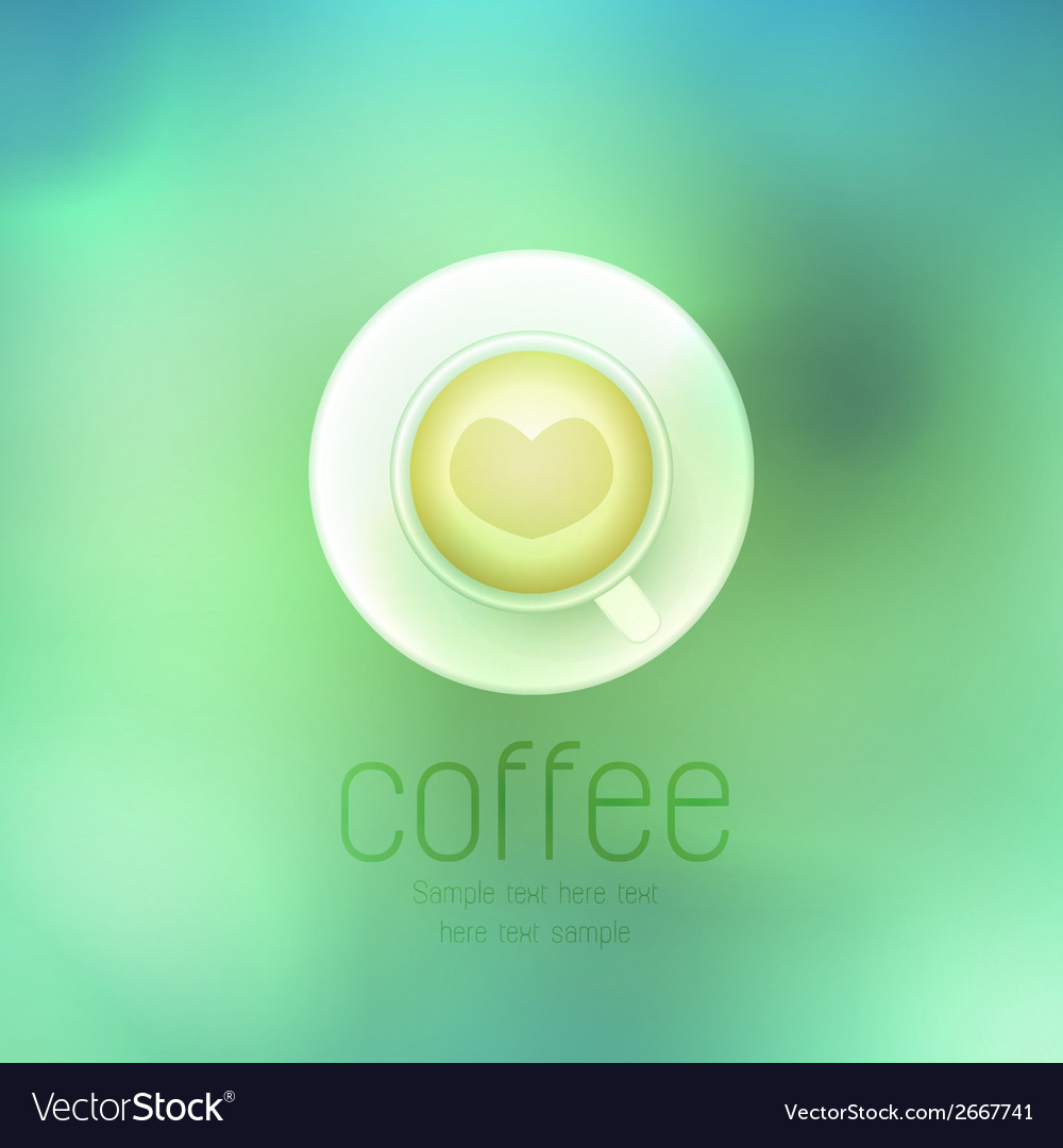 Coffee cup against on abstract background vector | Price: 1 Credit (USD $1)