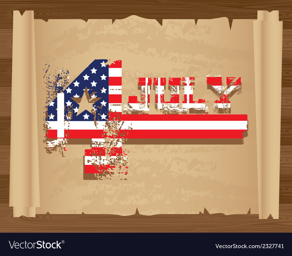 Design of independence day on papyrus roll vector | Price: 1 Credit (USD $1)