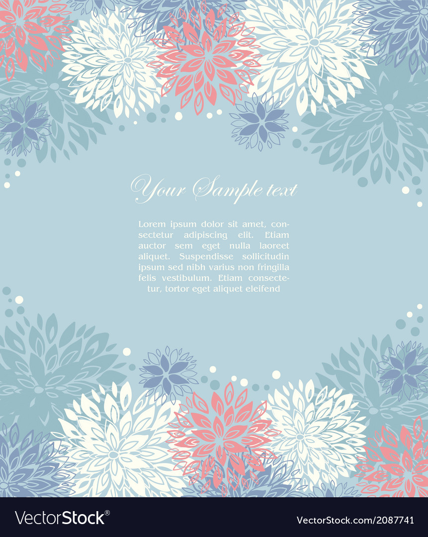 Floral background and place for your text vector | Price: 1 Credit (USD $1)