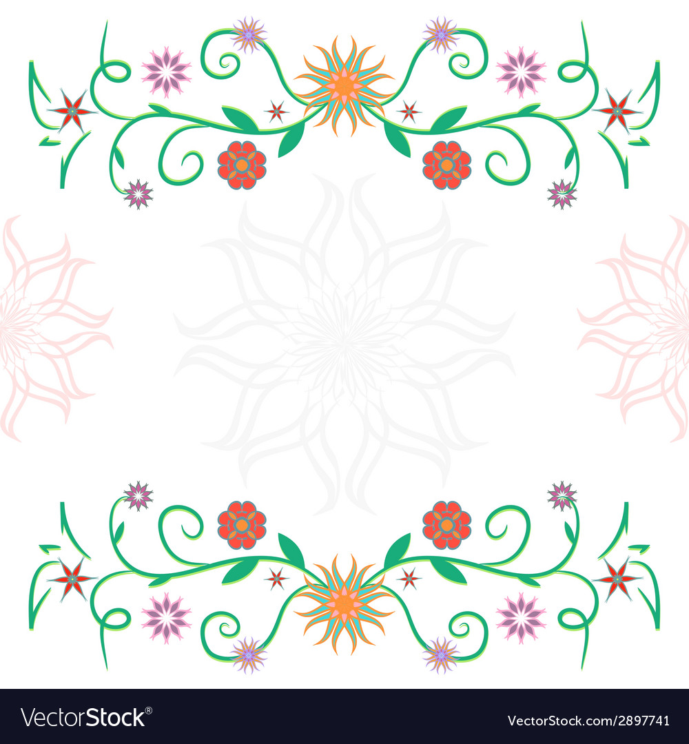 Frame of flowers ckech vector | Price: 1 Credit (USD $1)