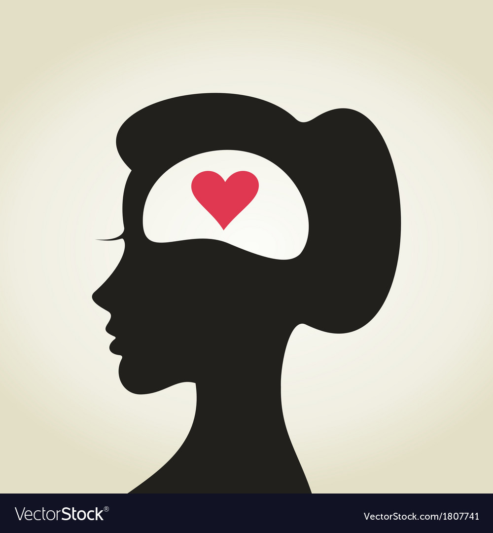 Heart in a head2 vector | Price: 1 Credit (USD $1)