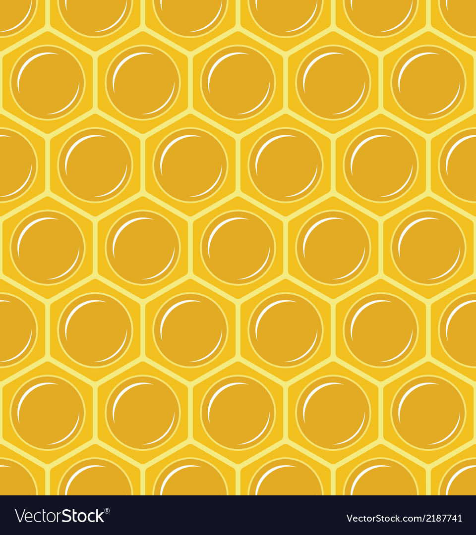 Seamless honeycomb pattern vector | Price: 1 Credit (USD $1)