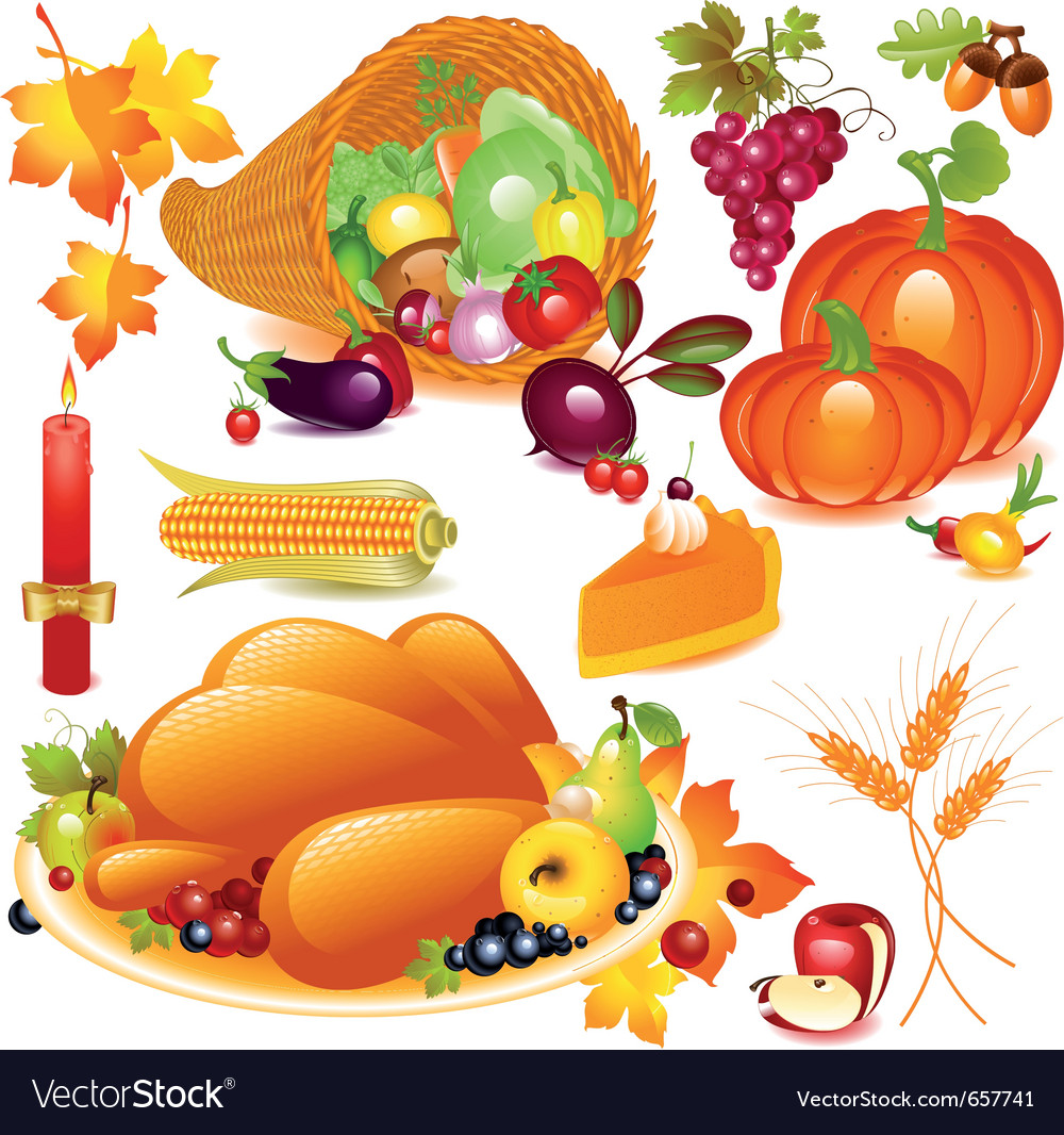 Thanksgiving set vector | Price: 3 Credit (USD $3)