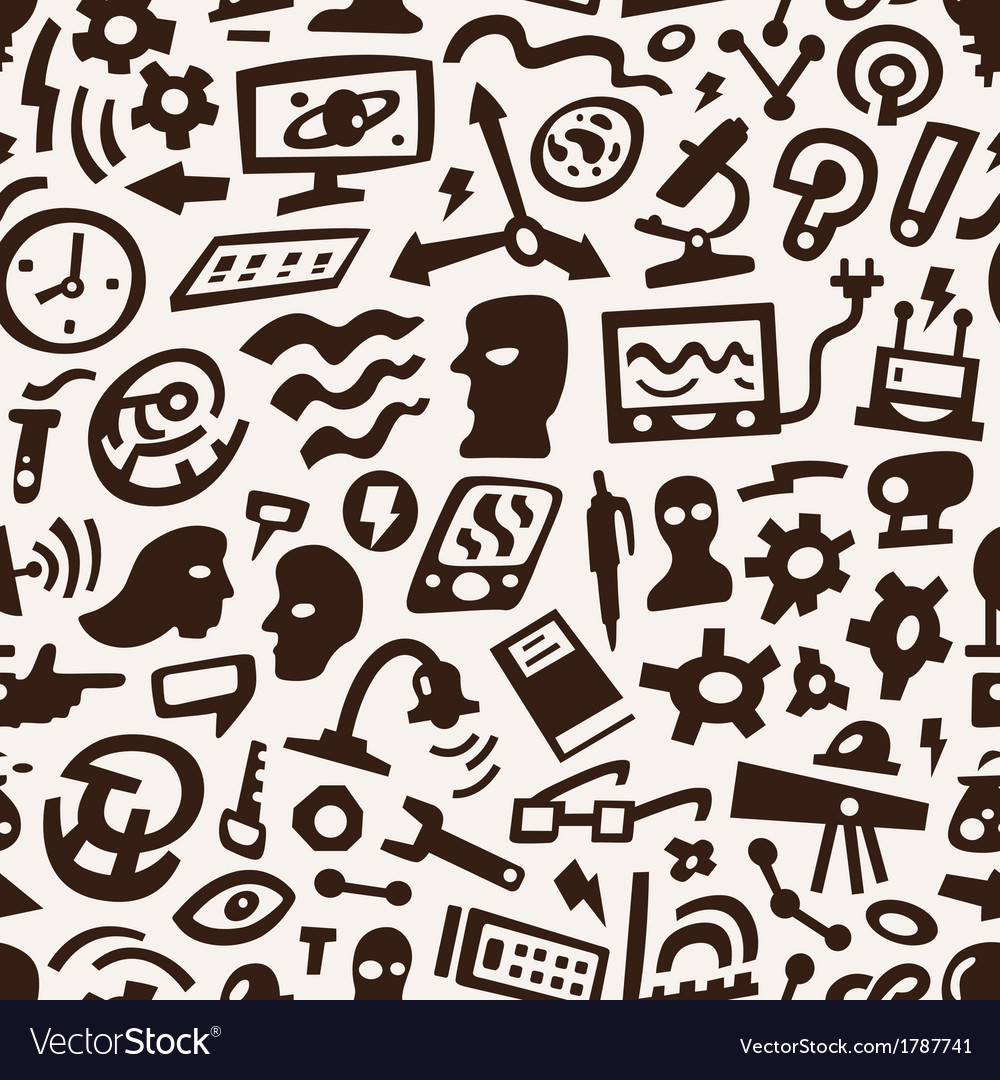 Thinking science - seamless background vector   Price: 1 Credit (USD $1)