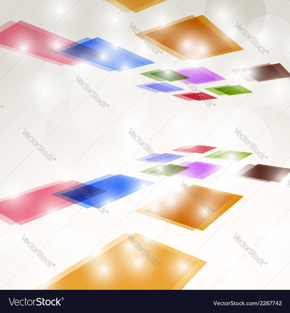Bright colorful square fly background vector | Price: 1 Credit (USD $1)