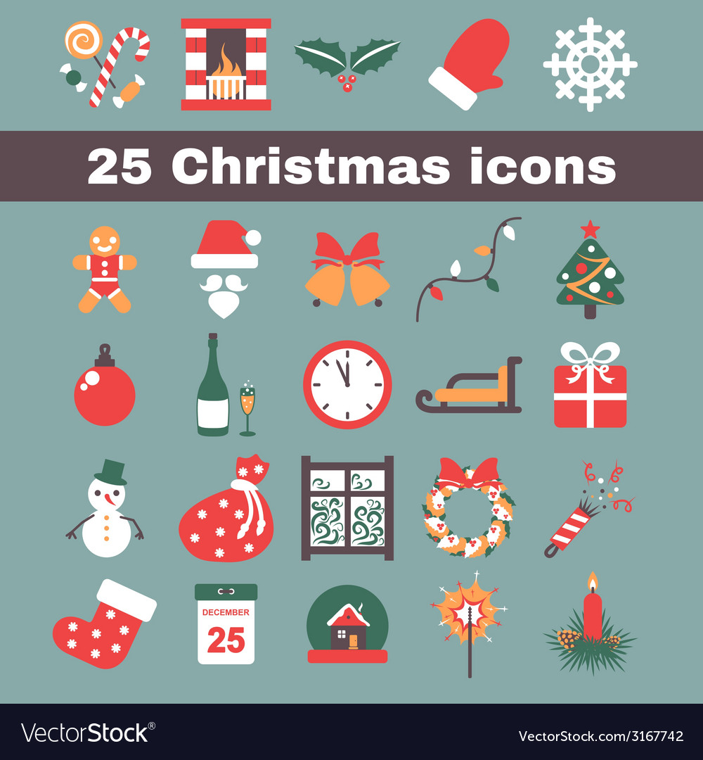 Christmas icon vector | Price: 1 Credit (USD $1)