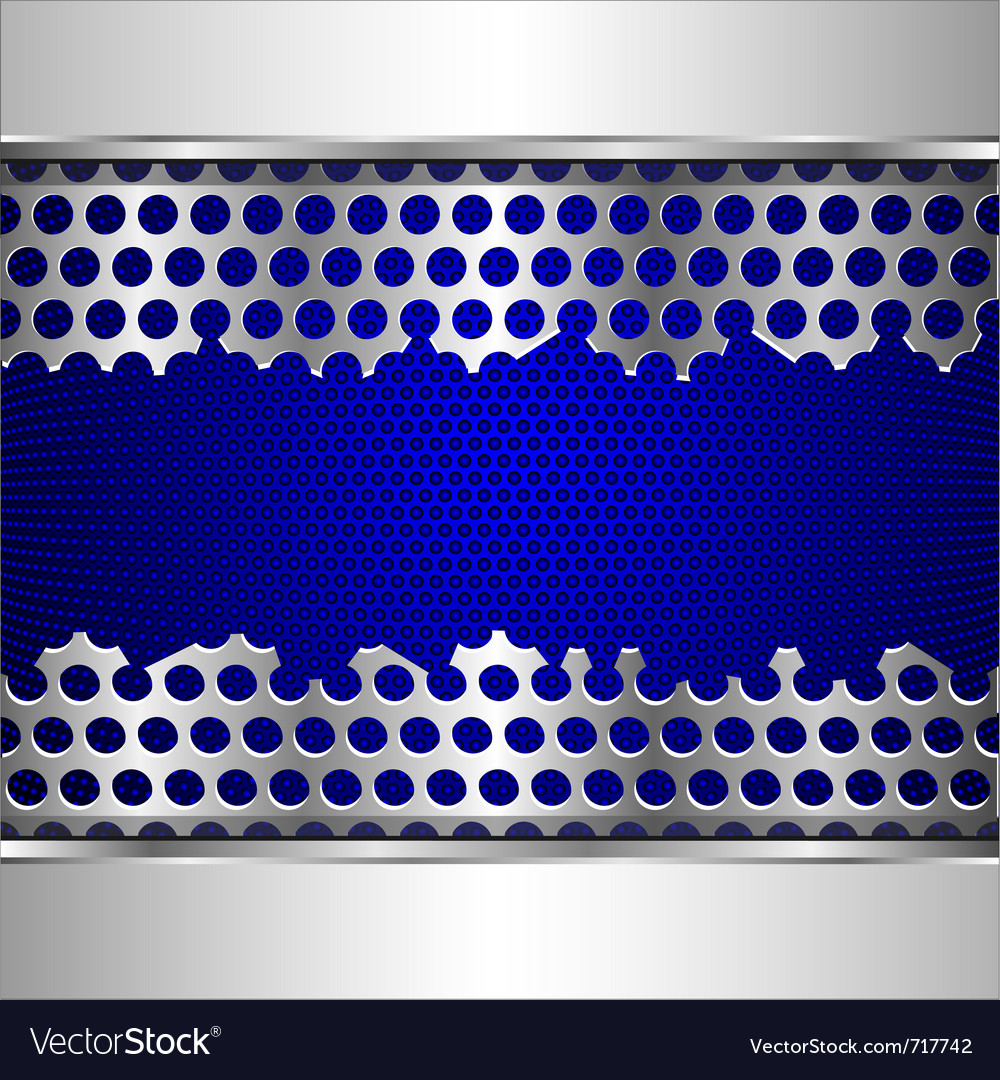 Damaged perforated metal plate vector | Price: 1 Credit (USD $1)