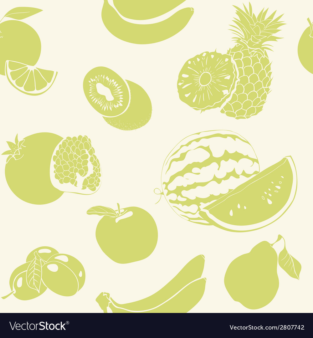 Green fruits seamless pattern vector | Price: 1 Credit (USD $1)