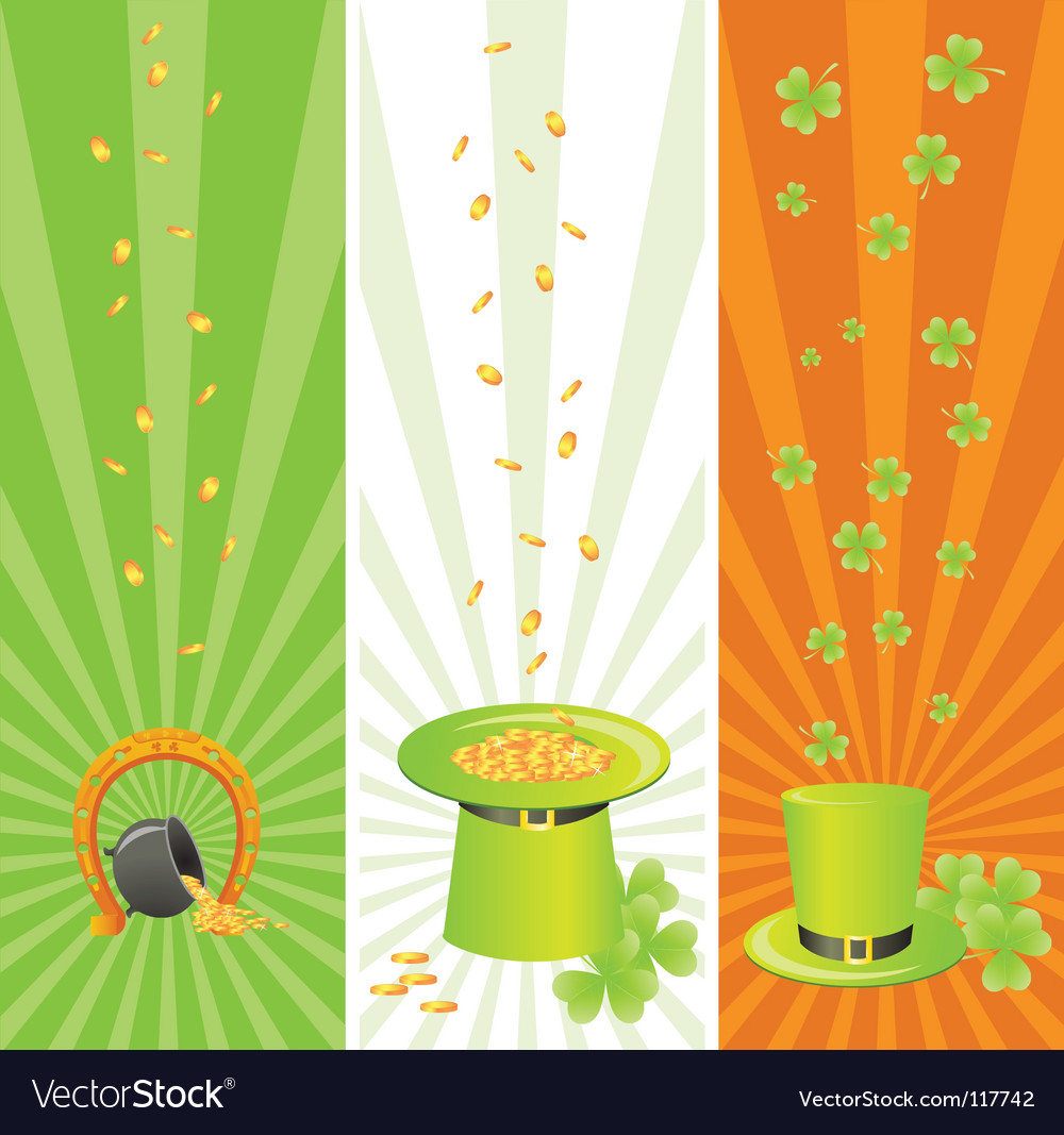 Ireland national banners vector | Price: 1 Credit (USD $1)