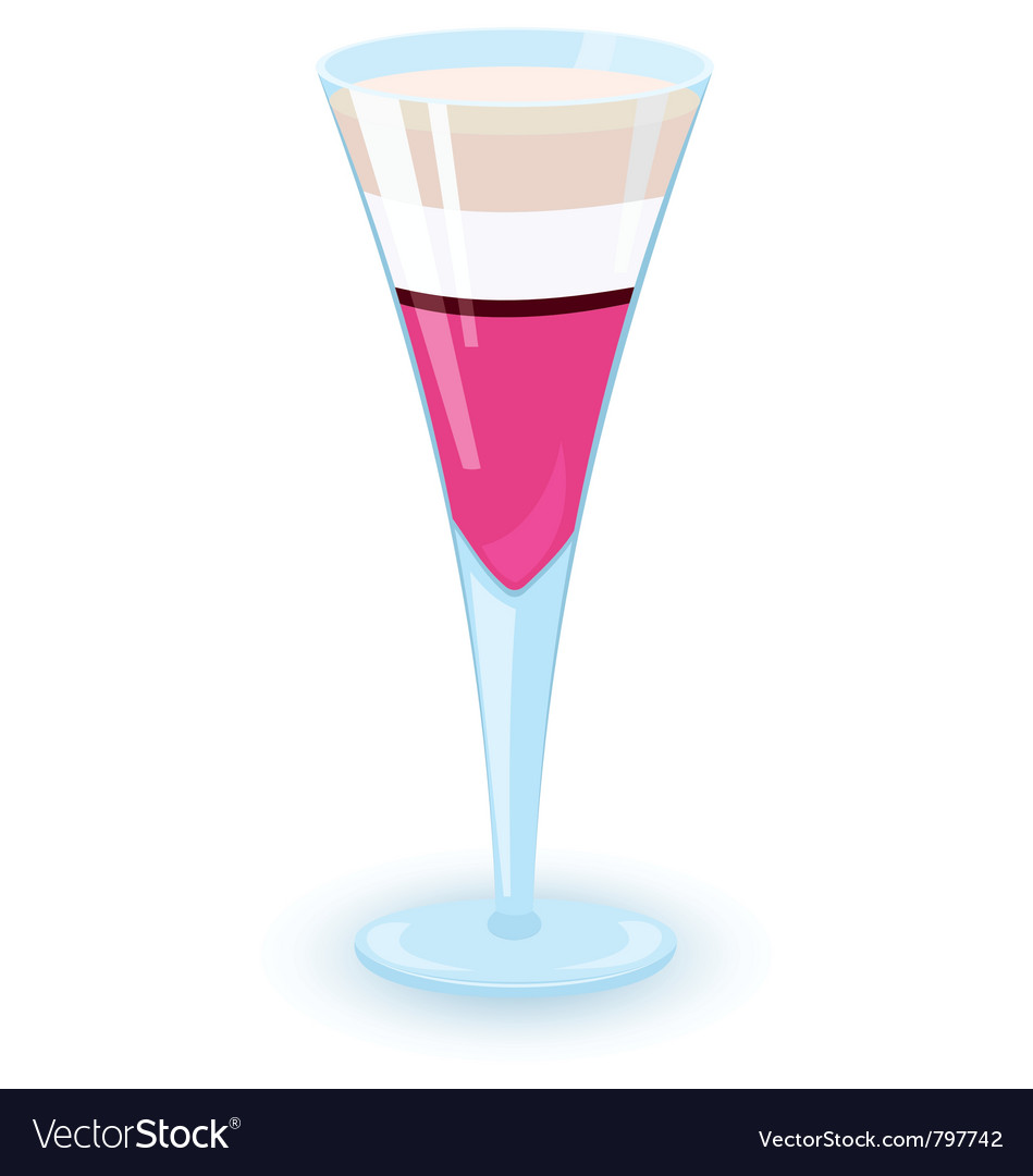 Layered alcohol cocktail vector | Price: 1 Credit (USD $1)