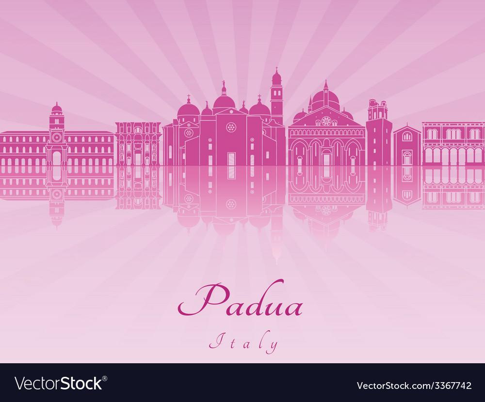 Padua skyline in purple radiant orchid vector | Price: 1 Credit (USD $1)