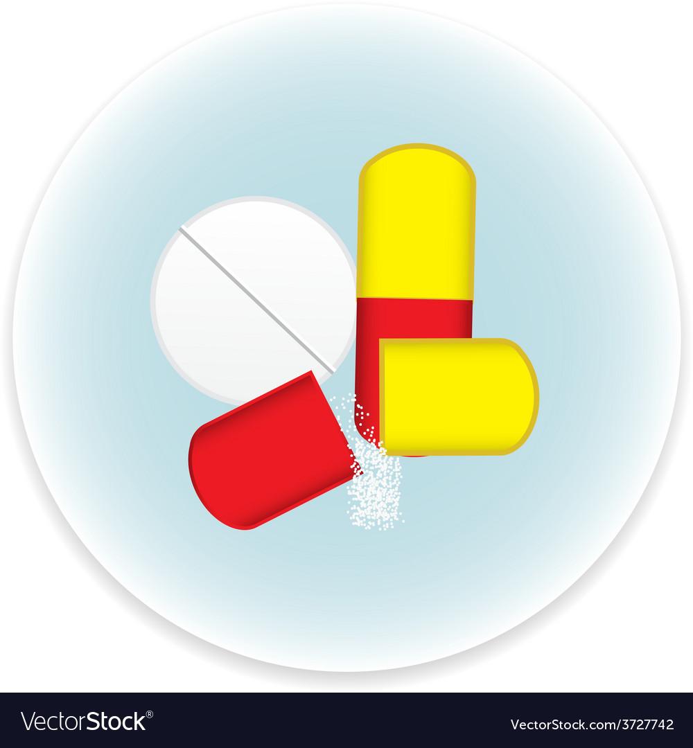 Pills icon vector
