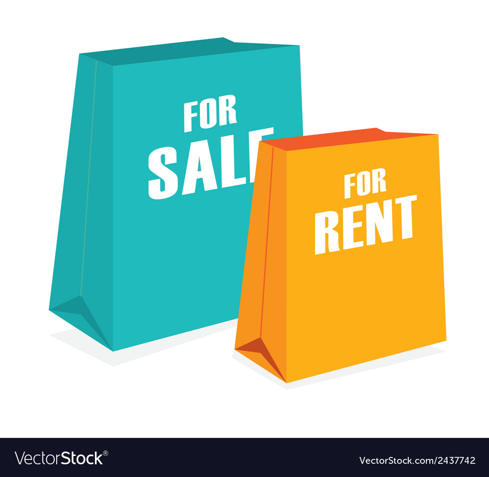 Sales rent vector | Price: 1 Credit (USD $1)