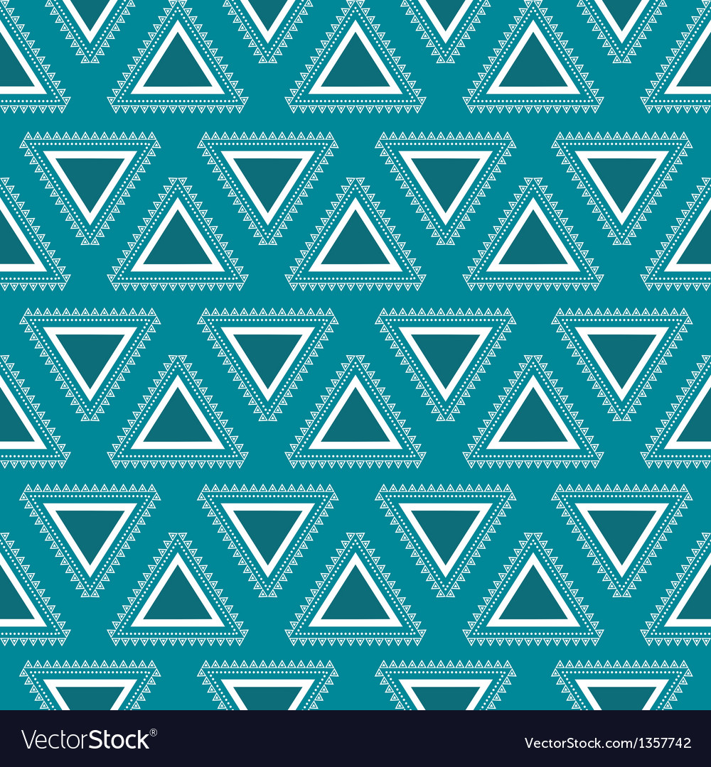 Tribal blue seamless pattern vector | Price: 1 Credit (USD $1)
