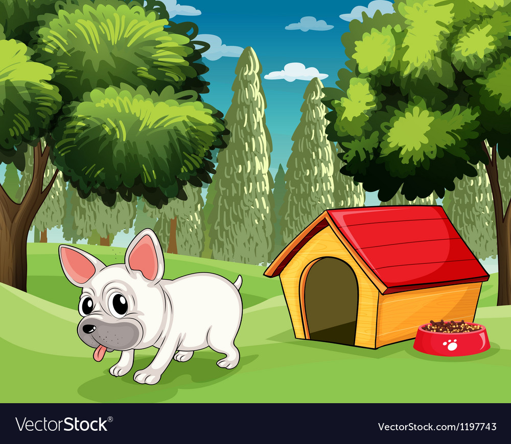 A doghouse at the park vector | Price: 1 Credit (USD $1)