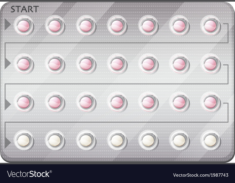A pack of birth control pills vector | Price: 1 Credit (USD $1)
