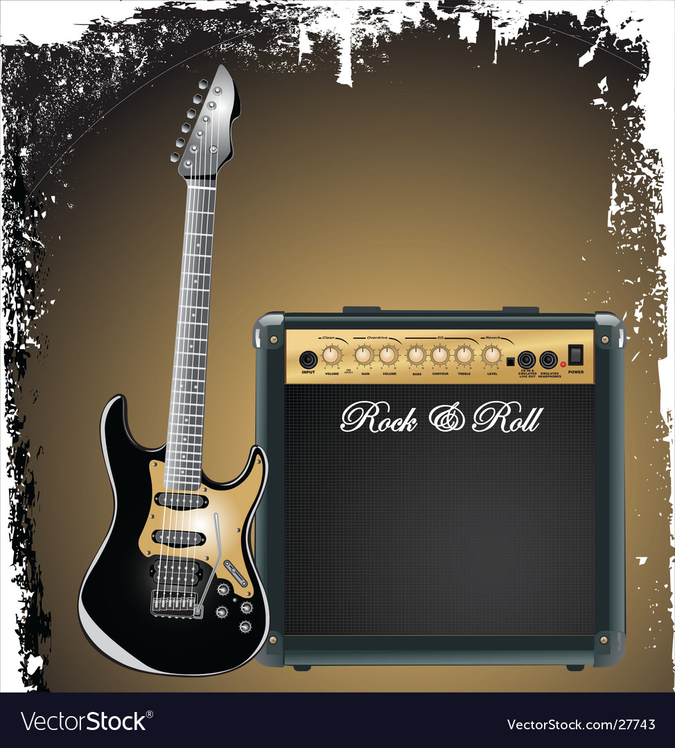 Amplifier and guitar vector | Price: 3 Credit (USD $3)