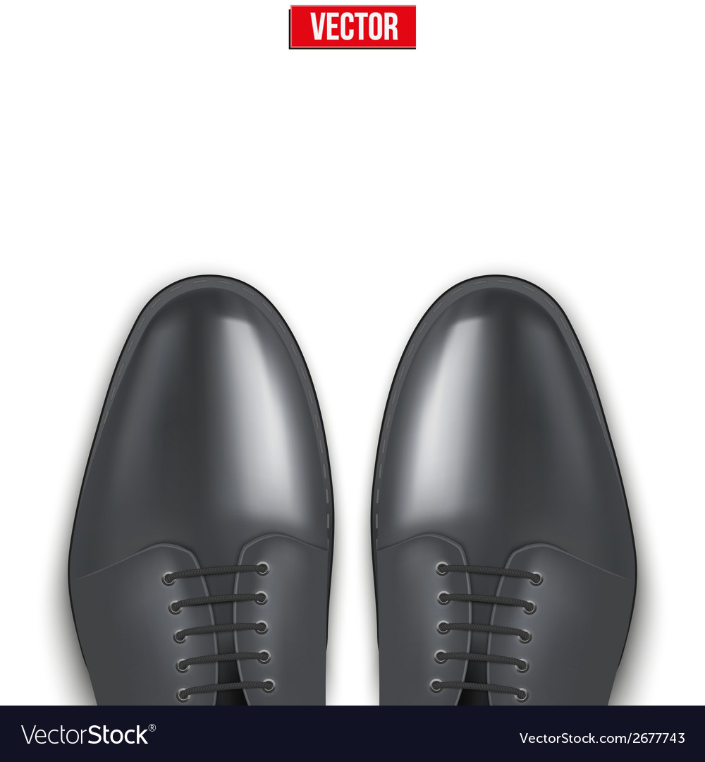 Background of male fashion classic black shoes vector | Price: 1 Credit (USD $1)