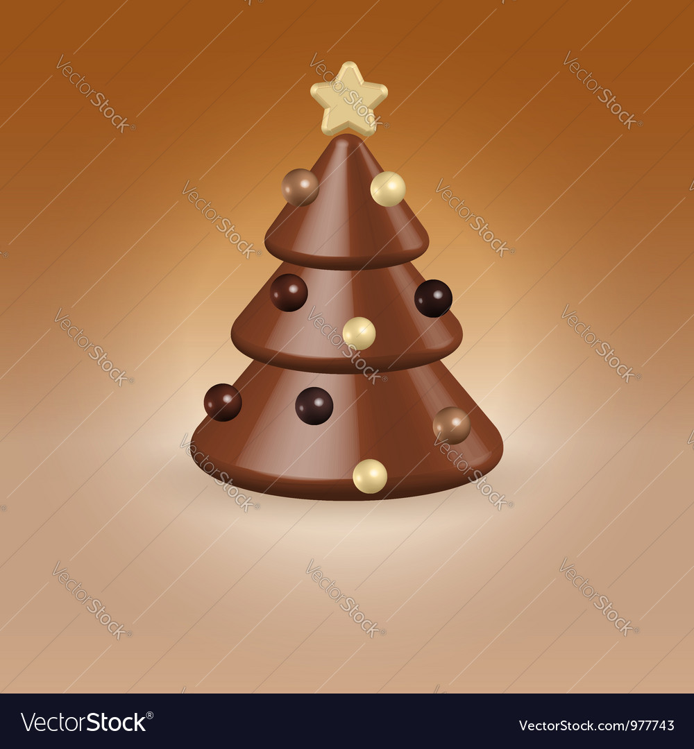 Chocolate tree christmas food concept vector | Price:  Credit (USD $)