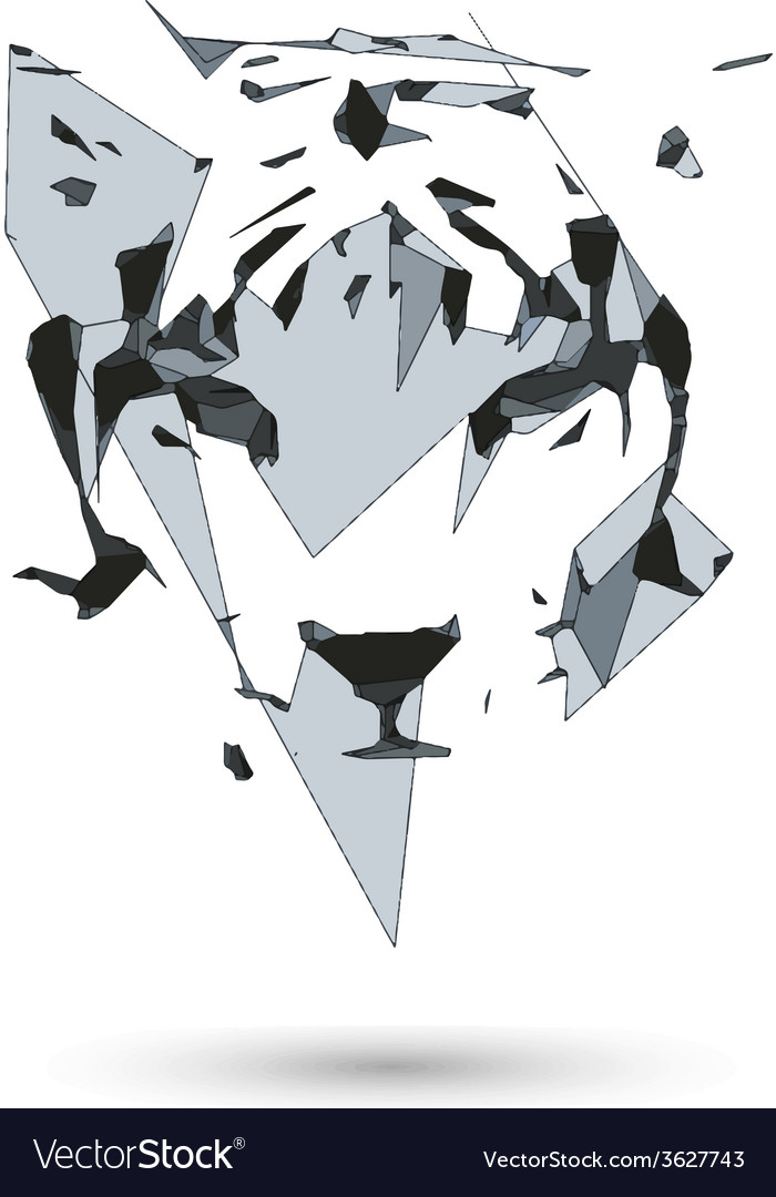 Conceptual polygonal tiger abstract  low poly vector | Price: 1 Credit (USD $1)