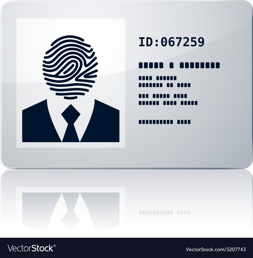 Id card vector | Price: 1 Credit (USD $1)
