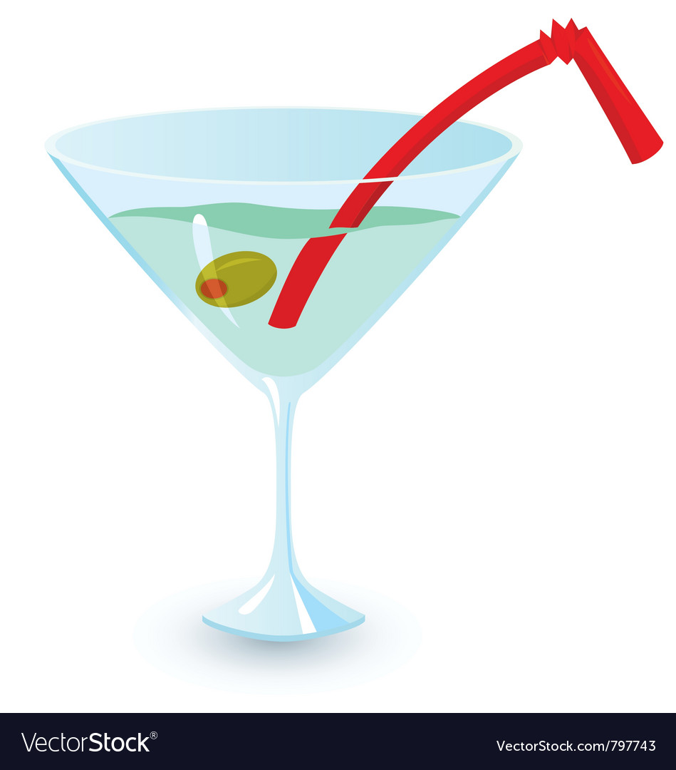 Martini alcohol cocktail vector | Price: 1 Credit (USD $1)