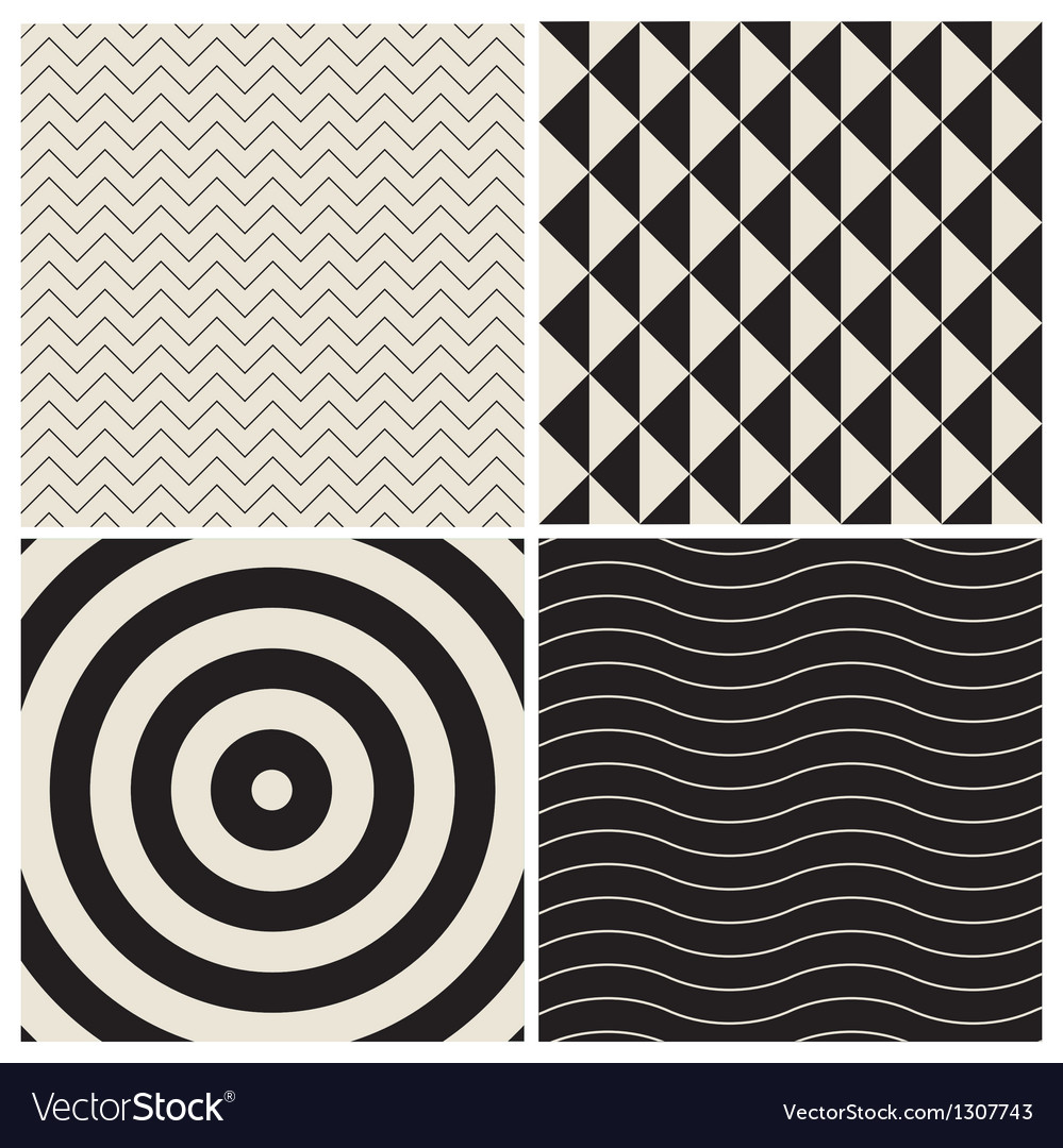 Pattern background set retro vector | Price: 1 Credit (USD $1)