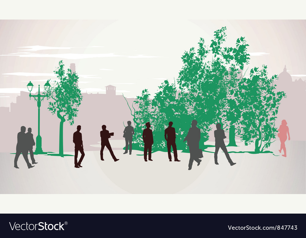 People walking vector   Price: 1 Credit (USD $1)