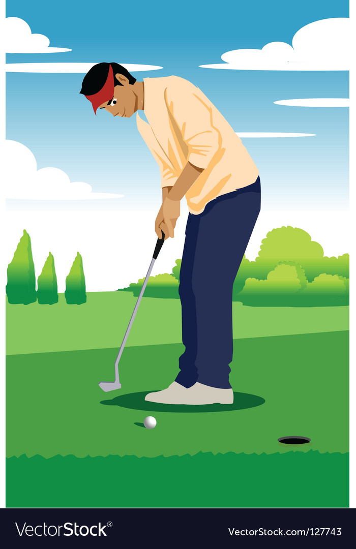 Putting golf vector | Price: 1 Credit (USD $1)