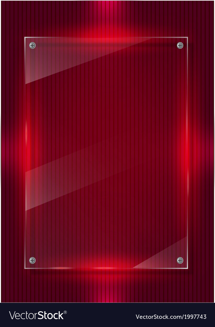 Red digital background and glass panels vector | Price: 1 Credit (USD $1)