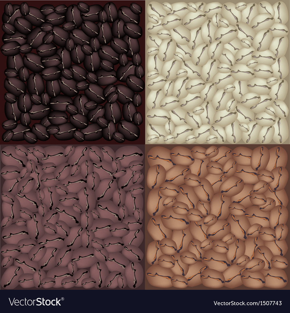 Roasted coffee beans background vector | Price: 1 Credit (USD $1)