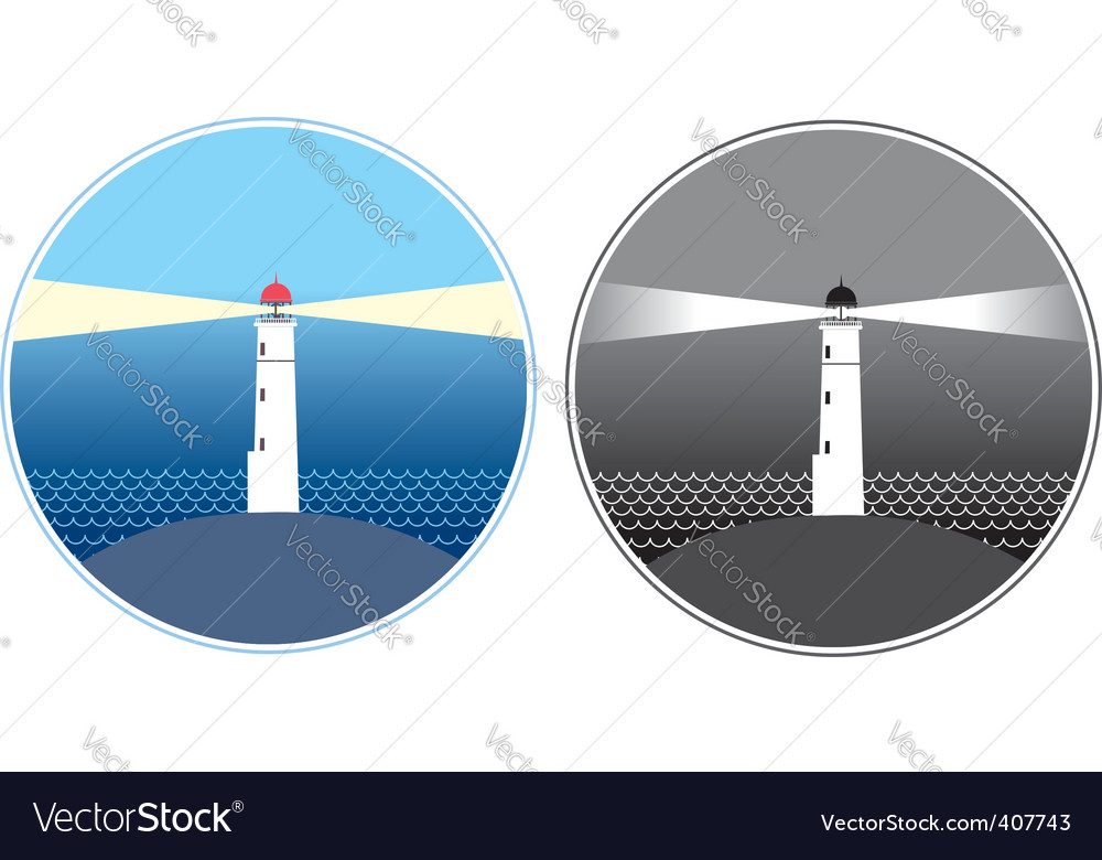 Sea lighthouse symbols vector | Price: 1 Credit (USD $1)