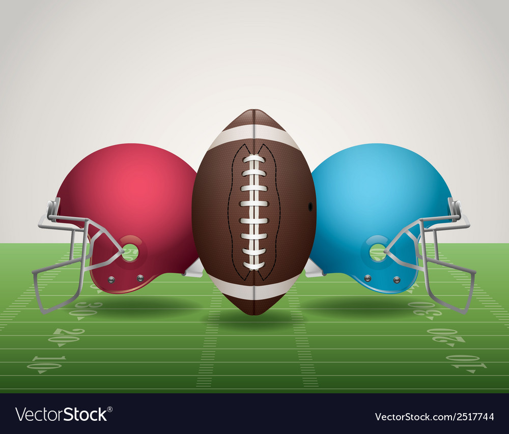American football helmets landscape vector | Price: 1 Credit (USD $1)