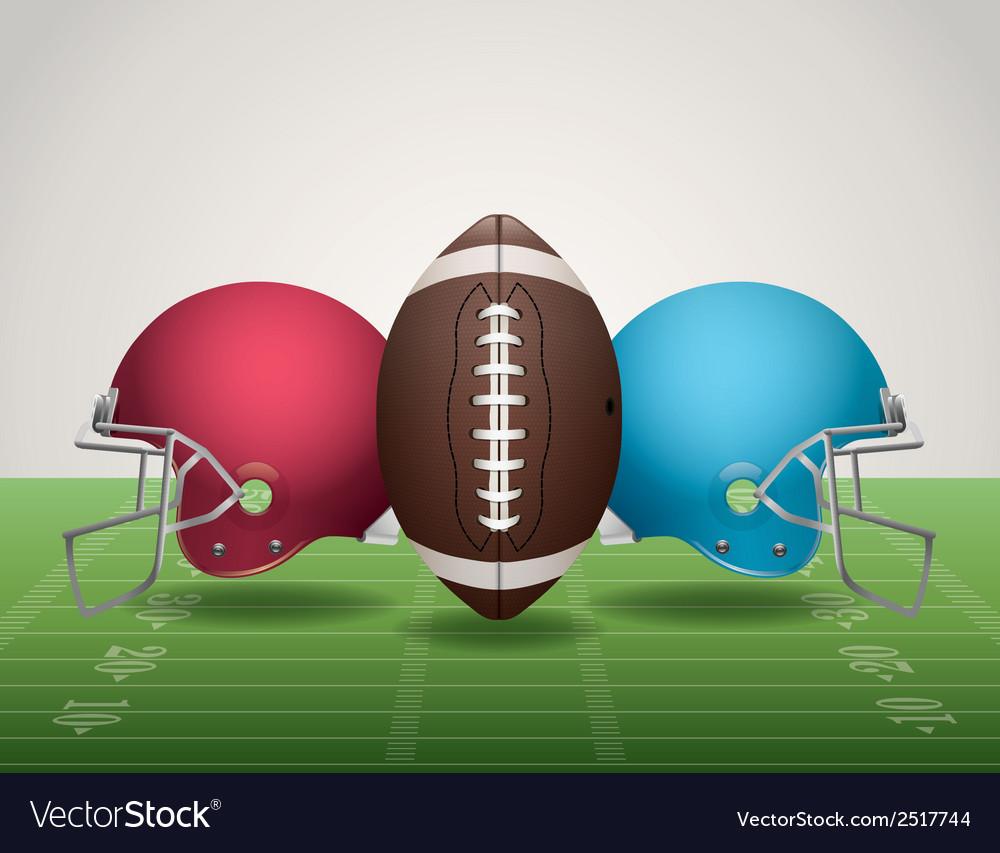 American football helmets landscape vector | Price: 1 Credit (USD $1)